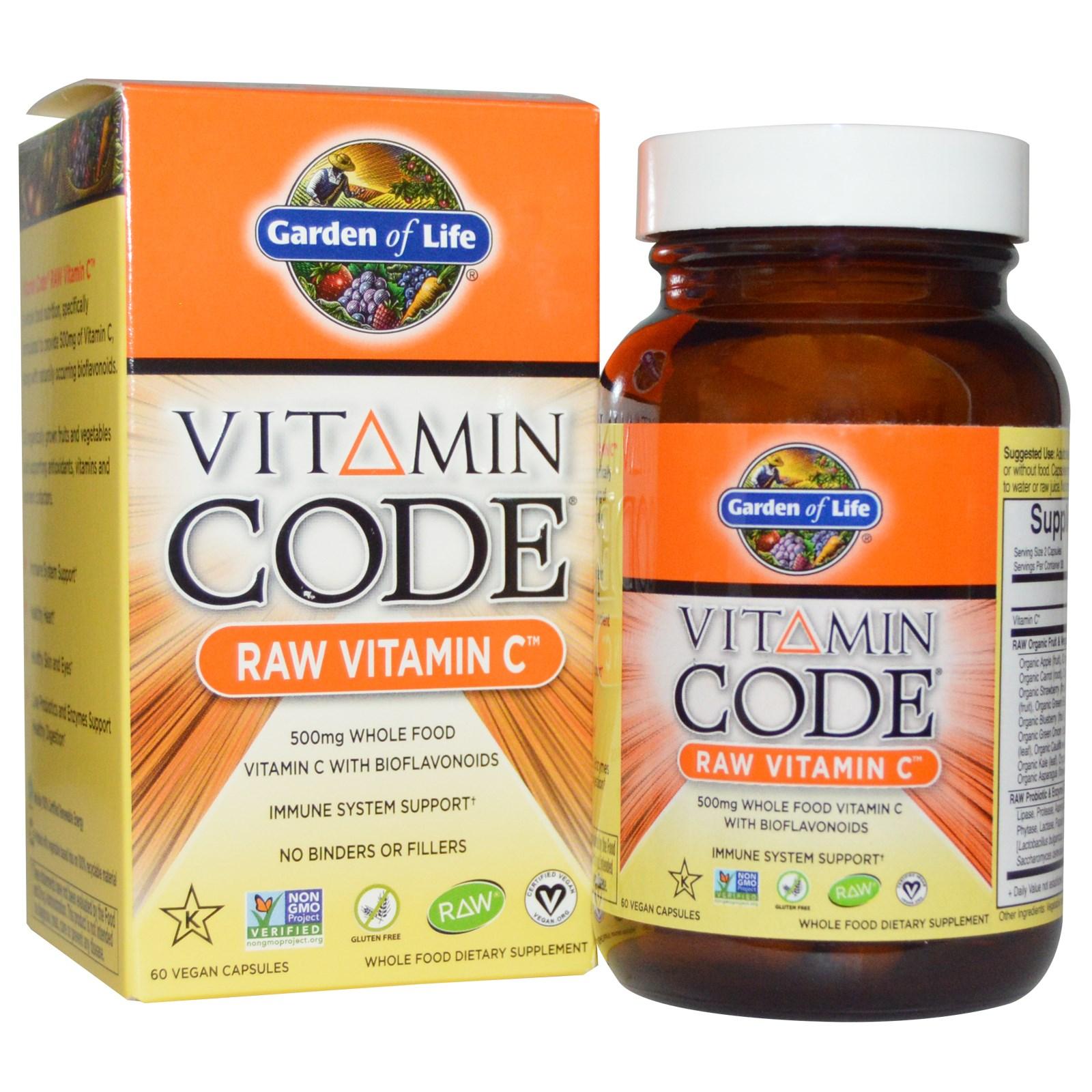 prenatal life raw garden capsules of vitamin vegetarian code by