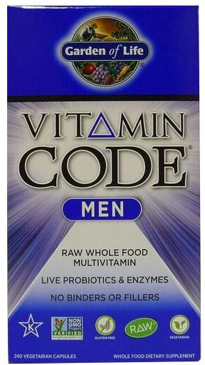 garden of life vitamin code men. Vitamin Code Men - 240 Vcaps Garden Of Life E