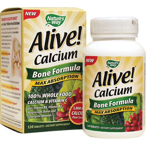 Nature S Way Alive Calcium Bone Formula Max Absorption  Tabs