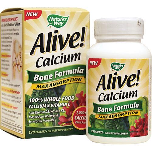 Nature S Way Alive Calcium Bone Formula  Tabs