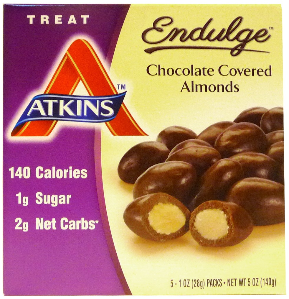 Atkins Nutritionals Endulge Chocolate Covered Almonds - 5 x 28g ...