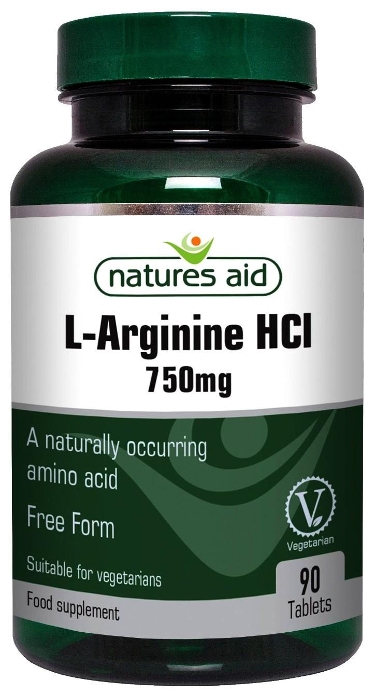 Nature's Aid L-Arginine HCl, 750mg - 90 tablets ...