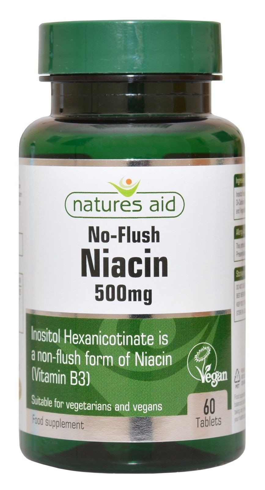 Nature S Aid Niacin 500mg No Flush 60 Tablets