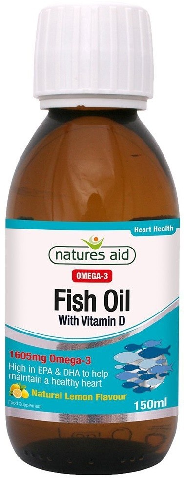 Nature 39 s aid fish oil with vitamin d 150 ml for Fish oil for bodybuilding