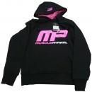 Logo Pullover Hoodie - Black & Hot Pink