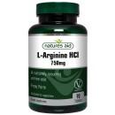 L-Arginine HCl, 750mg - 90 tablets
