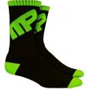Crew Socks - Black/Green