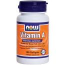 Vitamin A, 25.000 IU - 100 softgels
