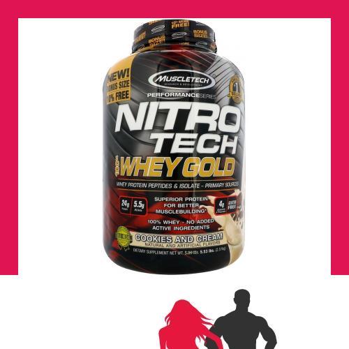 MuscleTech - Nitro-Tech 100% Whey Gold Gold Whey 27c4ab