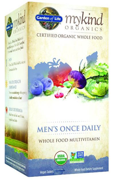 Garden of life mykind organics men 39 s once daily bodybuilding and sports supplements for Garden of life once daily women s probiotic