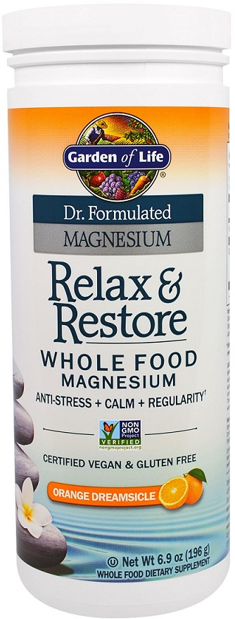 Garden of life dr formulated magnesium relax restore bodybuilding and sports supplements for Garden of life relax and restore
