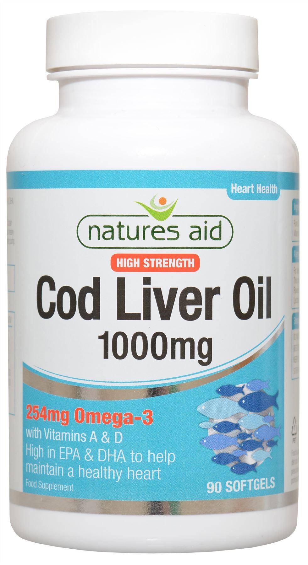 Nature 39 s aid cod liver oil bodybuilding and sports for Cod liver oil vs fish oil