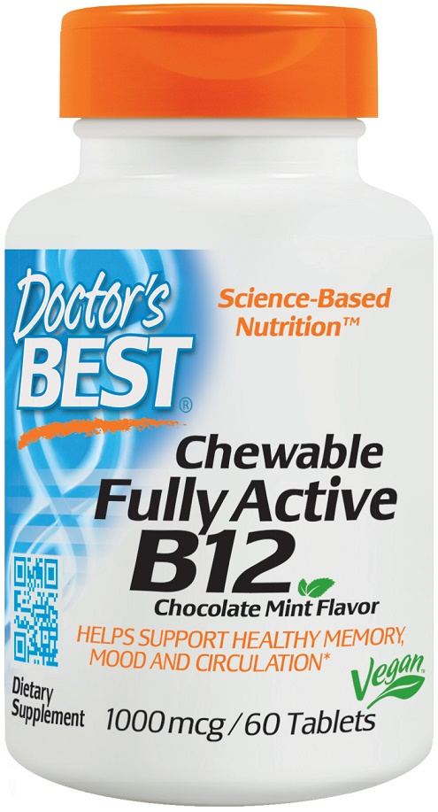 Fully Active Folate With Quatrefolic 400 Mcg: Doctor's Best Chewable Fully Active B12, 1000mcg