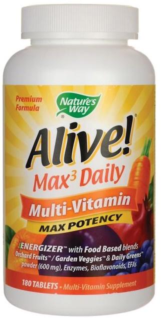 Nature S Way Alive Max Daily Multi Vitamin Max Potency